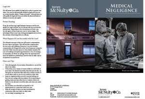 Medical Negligence Leaflet