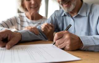Elderly couple making a Will